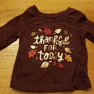 EUC Carter's Thanksgiving Shirt 12 months